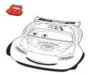 Coloriage cars flash mcqueen voiture de course