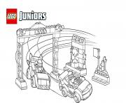 Coloriage voiture de course lego juniors