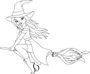 Coloriage belle sorciere barbie