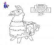 Llama Fortnite dessin à colorier