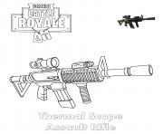 Coloriage Thermal Scope Assault Rifle Fortnite