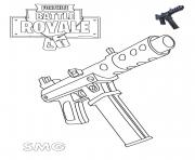 Coloriage Machine Pistol Fortnite