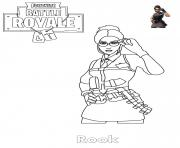 Coloriage Rook Fortnite Girl