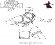 Coloriage Jumpshot Fortnite Basketball Player