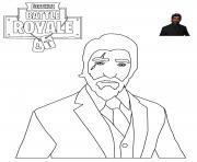 Reaper Skin Fortnite dessin à colorier