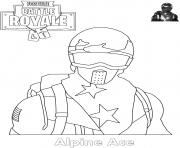 Coloriage Alpine Ace Skin Fortnite