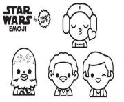 star wars emoji personnages dessin à colorier