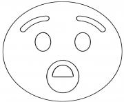 Twitter Surprise Emoji Emoji dessin à colorier