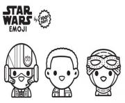 Coloriage star wars emoji pilotes