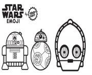 star wars emoji robots dessin à colorier