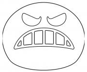 Coloriage Google Emoji Angry Face