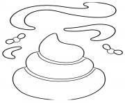 Google Emoji Poop dessin à colorier