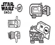 Coloriage star wars emoji engins