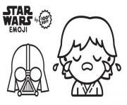 star wars emoji pere et fils dessin à colorier