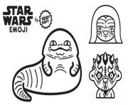 star wars emoji saga dessin à colorier