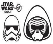 star wars emoji stormtrooper dessin à colorier