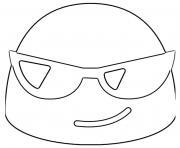 Google Emoji Sunglasses dessin à colorier