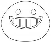 Coloriage Google Emoji Smiling Teeth