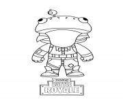 Coloriage fortnite mini frog