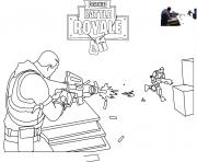 Coloriage fortnite scene shooting