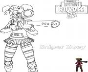 zoey sniper rifle fortnite dessin à colorier