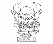Coloriage fortnite mini cute the dark viking