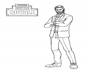 Coloriage fortnite the reaper john wick