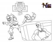 Coloriage rex loading screen fortnite
