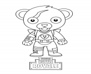 Coloriage cute mini cuddle team leader fortnite