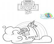 Brite Llama Fortnite dessin à colorier