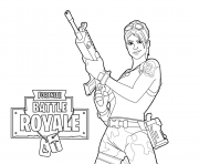 Fortnite Master Grenadier dessin à colorier