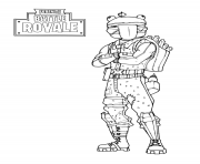 Coloriage fortnite frog skin