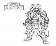 Coloriage fortnite the dark viking