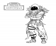 Coloriage fortnite nevermore soldier