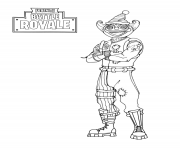 Coloriage fortnite peekaboo outfit
