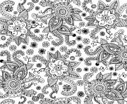 fleurs nature adultes doodle art graphique dessin à colorier