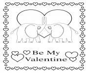 Coloriage mandala coeur soit ma valentine dessin