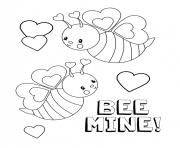 saint valentin 2019 be mine dessin à colorier