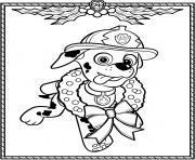 Pat Patrouille Noel Marcus dessin à colorier