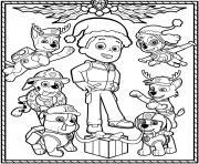 Pat Patrouille Noel dessin à colorier