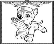 Pat Patrouille Noel Chase dessin à colorier