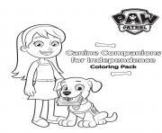 chien de compagnons pour lindependance dessin à colorier