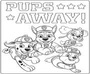 Coloriage ultime pat patrouille pups away