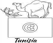 tunisie drapeau camel dessin à colorier