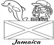 jamaica drapeau reggae dessin à colorier