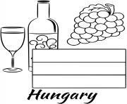 hungary drapeau wine dessin à colorier