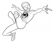 Coloriage Spider Man Coloring Miles Morales