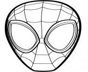 Coloriage Spider Man Mask