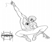 Coloriage Spider Man 2018