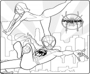 Coloriage Spider Man Into the Spider Verse